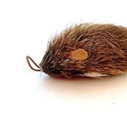 Purrs Wechselanhänger Maus aus Mouflon-Haar - Katzenspielzeug aus Fell