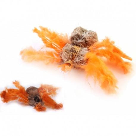 Purrs Wechselanhänger Spinne - Wechselanhänger aus Hirsch-Haar und Federn