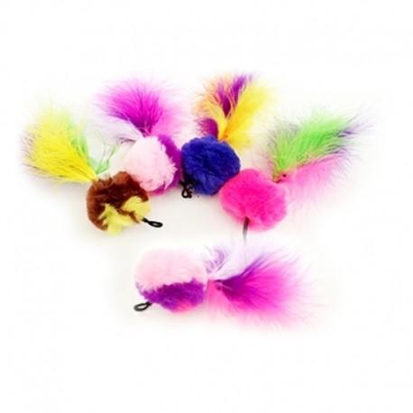 Purrs Pompom Feather – Ersatz-Federanhänger für Katzenspielangel