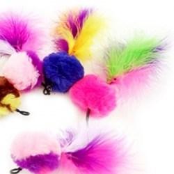 Purrs Pompom Feather – Ersatzanhänger für Katzenspielangel - Cat Toys