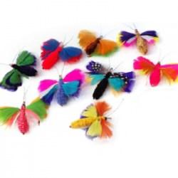 Purrs Buttermoth Refill | Bunter Spielanhänger Schmetterling von Purrs
