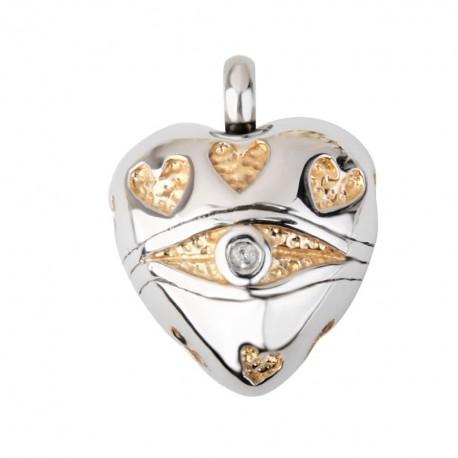 Herz aus Edelstahl - Urnenanhänger für Tierasche