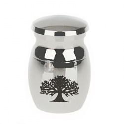 Urne aus Edelstahl für Tierasche in Kleinformat | Micro/Miniatur Urne