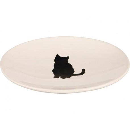 Futterteller für Katzen – Futternapf weiß, flach