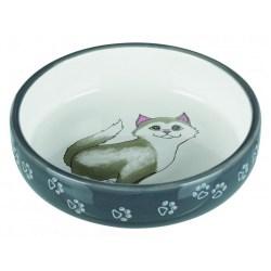 Futternapf für kurznasige Katzenrassen – großer Fressnapf aus Keramik