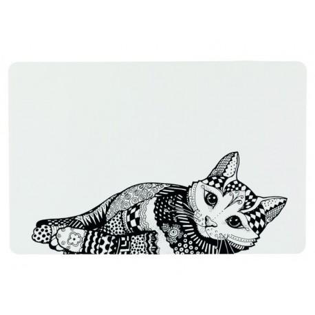 Napfunterlage Zentangle für Katzen