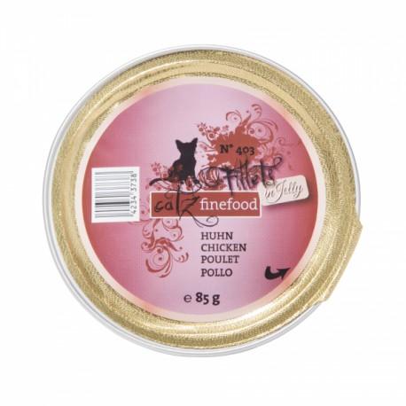 catz finefood Fillets N°403 - Huhn in Jelly 85g - gutes Nassfutter mit viel Fleisch für Katzen