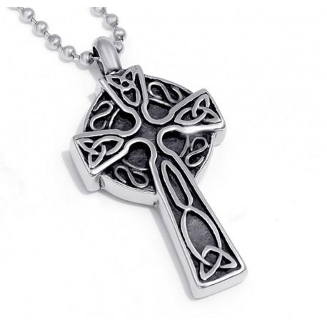 Keltisches Kreuz als Andenkanhänger für Tierasche