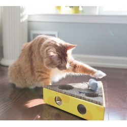 Scratch & Hunt Cheese Wedge von Petstages - Pfötel Katzenspielzeug