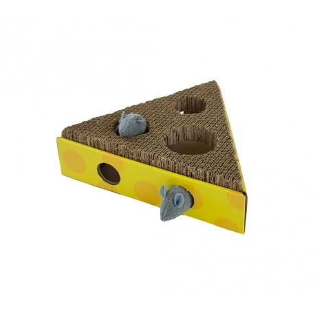 Scratch & Hunt Cheese Wedge von Petstages - Beschäftigungspielzeug zum Pföteln - neues Katzenspielzeug