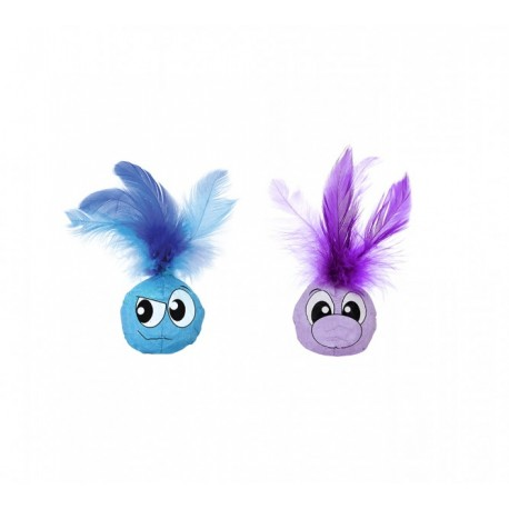 Feather Balls mit Catnip - Spielbälle mit Federn als Katzenspielzeug von Petstages