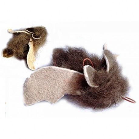 Buffalo Batty Anhänger von Purrs, natürliches Katzenspielzeug ausEchtfell