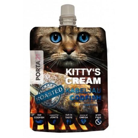 Kitty's Cream mit Kabeljau 90g, gesunder und fettarmer Snack für Katzen