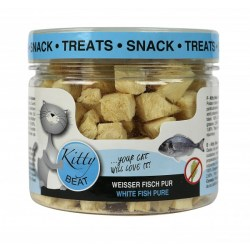 Kitty Beat Snack Treats Weißer Fisch 25g