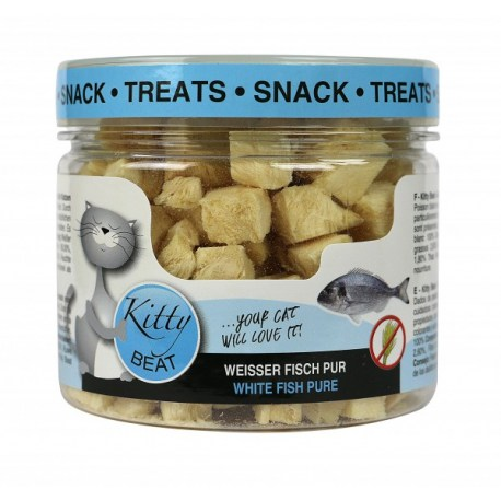 Kitty Beat Snack Treats Weißer Fisch 25g gesunder und fettarmer Snack für Katzen
