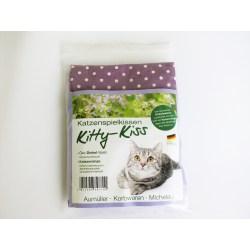 Katzenspielkissen Kitty-Kiss mit Katzenminze und Öko-Dinkel-Spelz