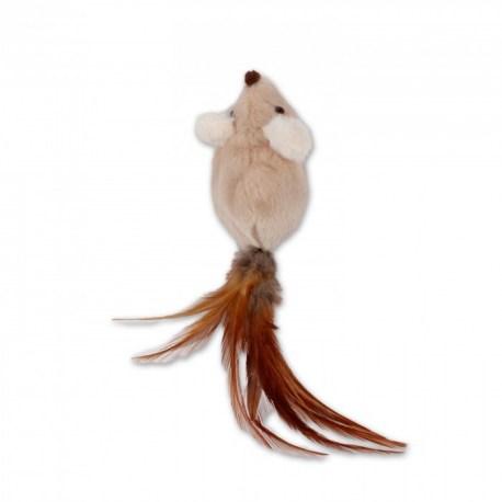 Spielmaus mit Federn - Katzenspielzeug von afp