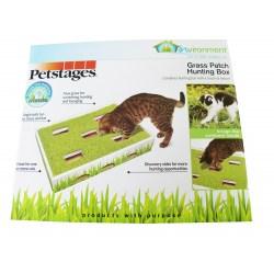Petstages Grass Patch Hunting Box - Katzenspielzeug zur Beschäftigung