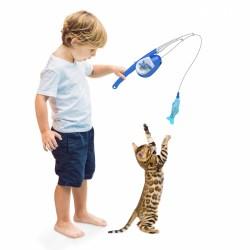 Fish'n Catch Spielangel für Katzen | außergewöhnliche Katzenspielangel