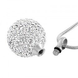 Kristallkugel Anhänger für Asche | Andenkenschmuck Urnenanhänger