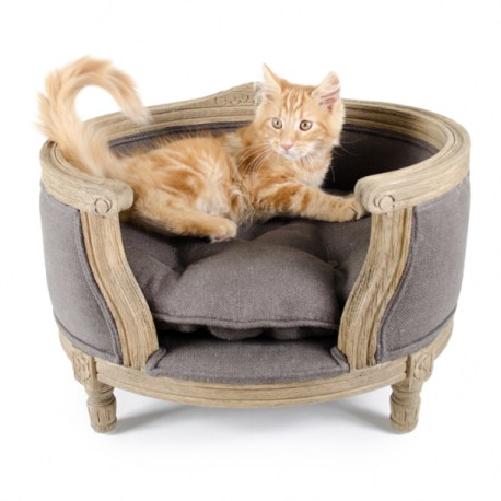 Katzenbett/Hundebett George Charcoal Brown
