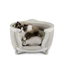 Edles Katzenbett u. Hundebett - George in Ecru von Lord Lou