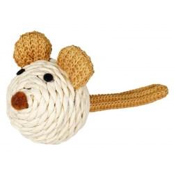 Sisal-Spielmaus von TRIXIE | kleine Maus mit Rassel - ohne Catnip!