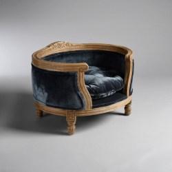 Katzenbett George Royal Blue Velvet | Katzensofa im barocken Stil