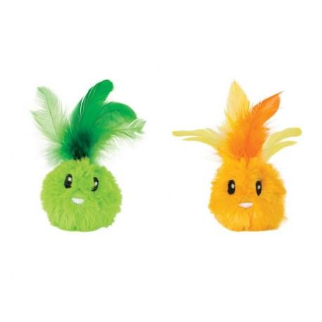 Feather Bunny 2teilig - leichte Plüschbälle als Katzenspielzeug von Petstages