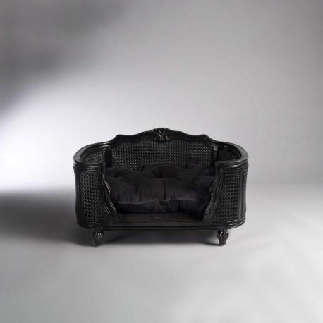 Katzensofa Arthur Black Velvet- hochwertiges Sofa für Hunde und Katzen