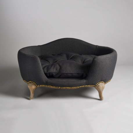 Katzensofa - Antoinette pet bed Anthracite - Luxusbett für Hunde und Katzen