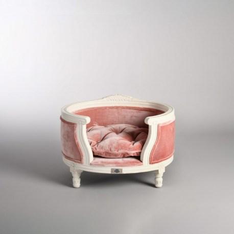 Katzensofa George Pink Velvet - Katzenbettchen in Rosa