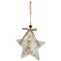 Dekorativer Sternenanhänger Metall mit einer Katze | Weihnachtsdeko