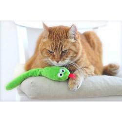 Snakey Katzenspielzeug Schlange mit Baldrian | Spielzeug für Katzen