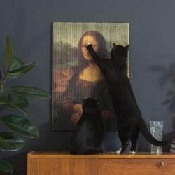 Copycat Art Scratcher Mona Lisa - Kratzbild für Katzen