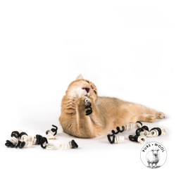 Twister Filzspiralen von Profeline – Wollkringel Katzenspielzeug