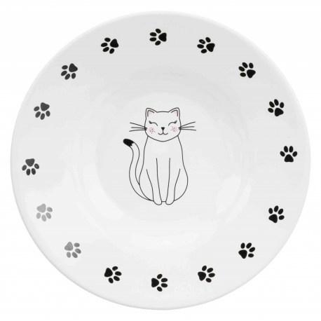 Futterteller mit Katzenmotiv
