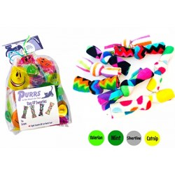 Das Sweetiez Bag von Purrs enthält 8 Bonbons mit 4 Kräuterfüllungen!