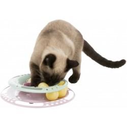 TRIXIE Junior Kitten Circle - Spielturm für Katzen mit Ersatzbällen
