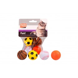 Moosgummibälle - 4 Spielbälle im Set von Karlie
