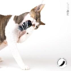 Profeline SmartTwins Anhänger | Katzenspielzeug aus Hirschhaar