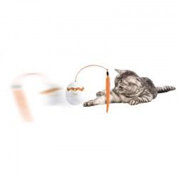 Dino Egg Spinner - elektronisches Katzenspielzeug mit Plüschwurm