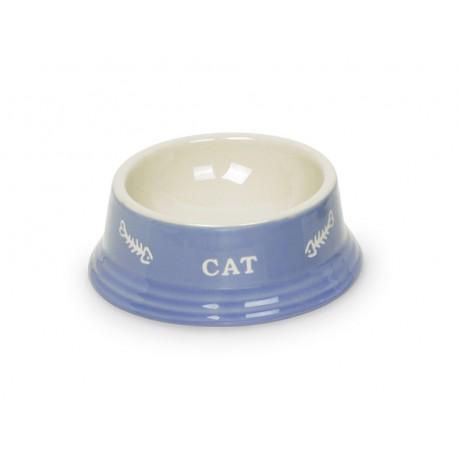 """Keramiknapf """"CAT"""" hellbau/beige"""