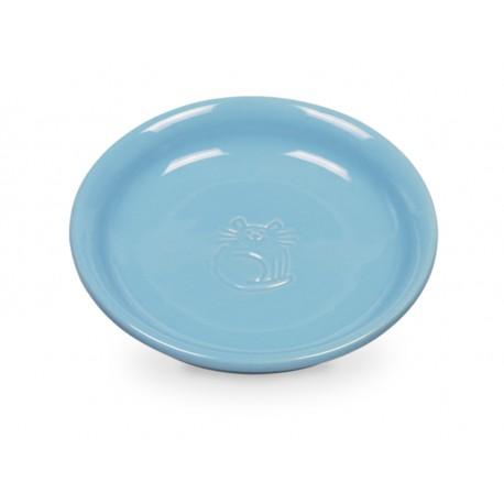 Katzen Milchschale - Futterteller in Blau
