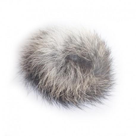 Fellball aus echtem Kaninchenfell - artgerechtes Katzenspielzeug