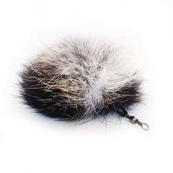 Fellball als Anhänger für Katzenangel - Katzenspielzeug aus Fell