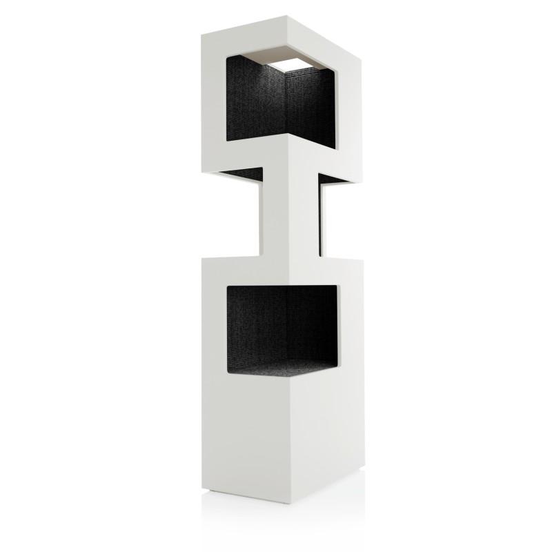 design kratzbaum holz edler kratzturm f r katzen in. Black Bedroom Furniture Sets. Home Design Ideas