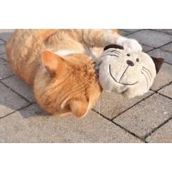 Katzenkopf Baldi-Willy mit Dinkelspelz und Baldrian - Katzenspielzeug