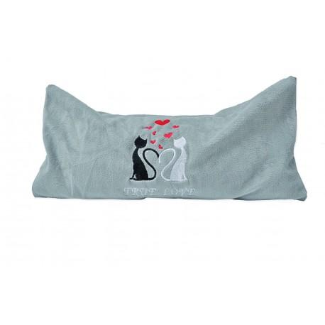 Großes Katzenkissen mit Silver Vine - True Love Größe L