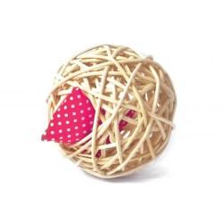 Mini Baldi-Ball | Katzenspielzeug aus natürlichen Material - Rattan